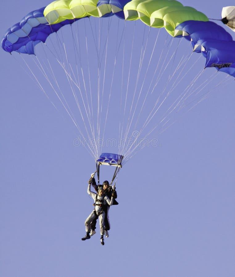 ¡Salto de cielo en tándem! imágenes de archivo libres de regalías