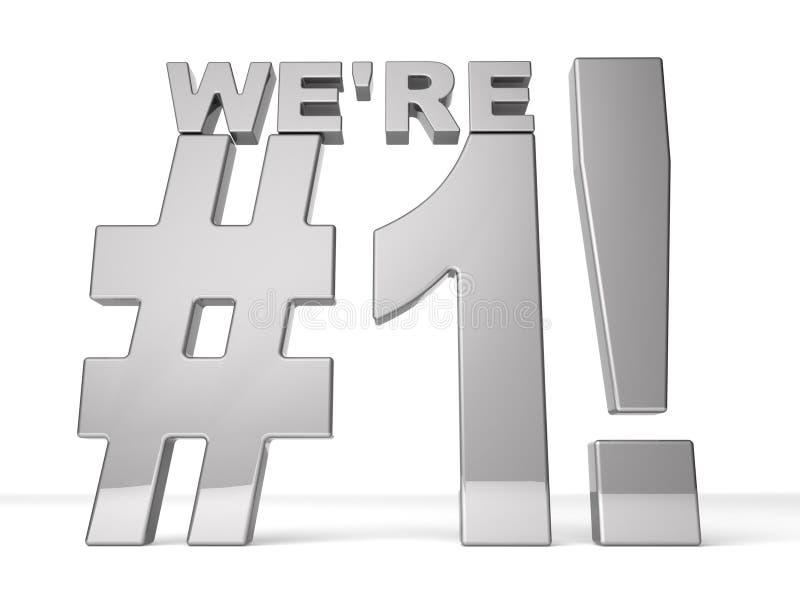 ¡Somos #1! stock de ilustración
