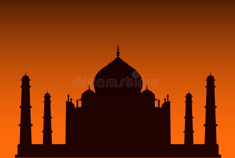 ¡Taj Mahal! ilustración del vector