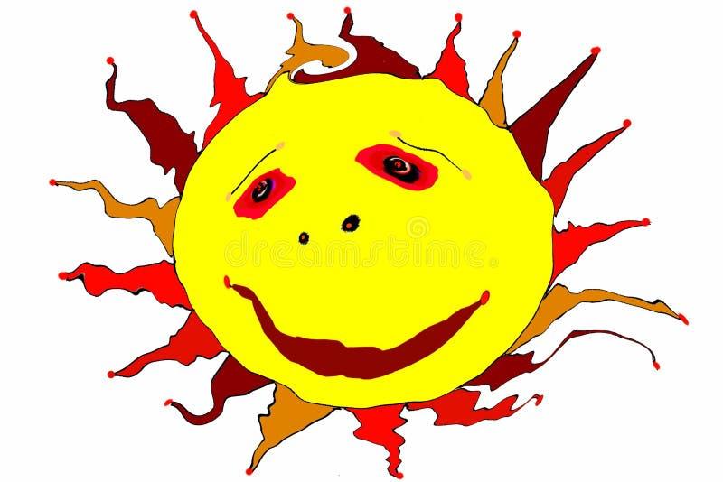 ¡Upsunshine de la estela! ¡Es un día hermoso!! ilustración del vector