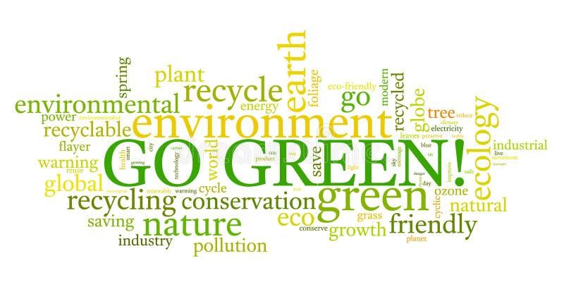 ¡Va el verde! stock de ilustración