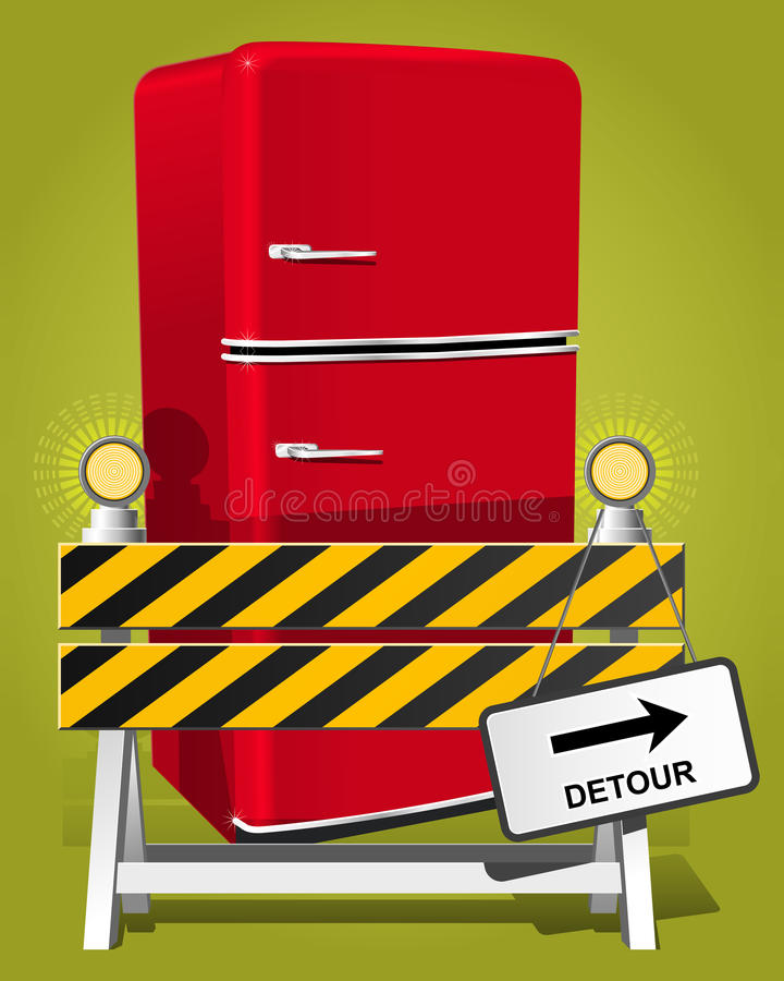 ¡Vaya en dieta! ilustración del vector
