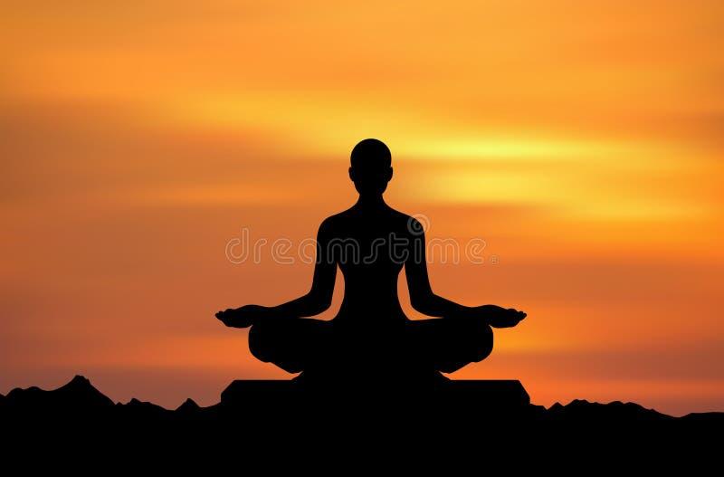 ¡Yoga! ilustración del vector