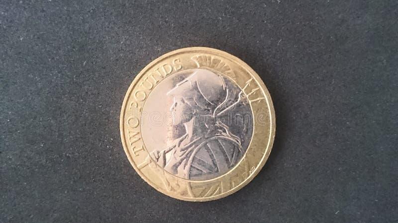 £2 pièce de monnaie Britannia R-U 2015 photographie stock