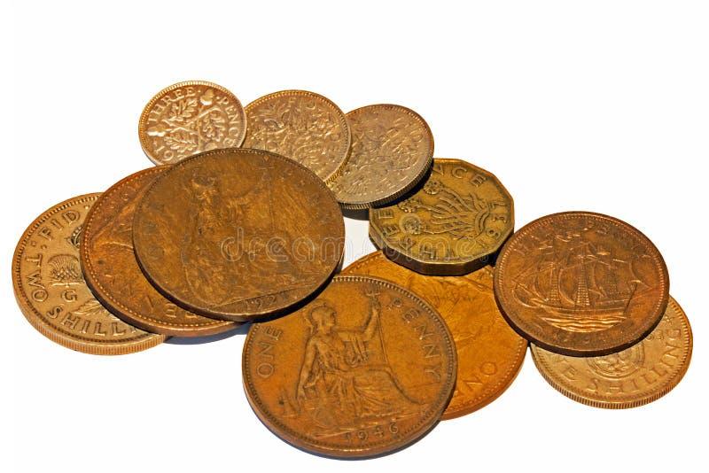 £Sd: Pounds, shilling och pence i Förenade kungariket royaltyfri foto
