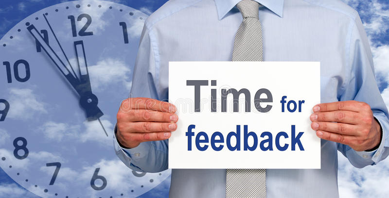 « Heure signe pour feedback » images stock