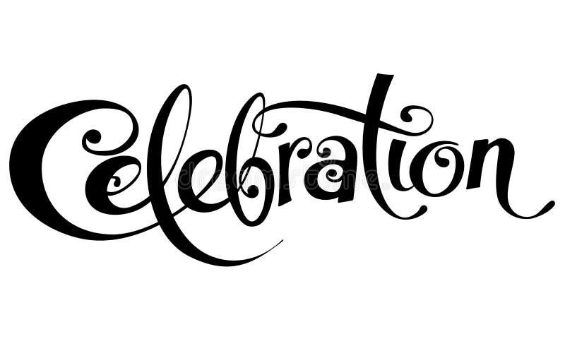 «świętowania «kaligrafia royalty ilustracja