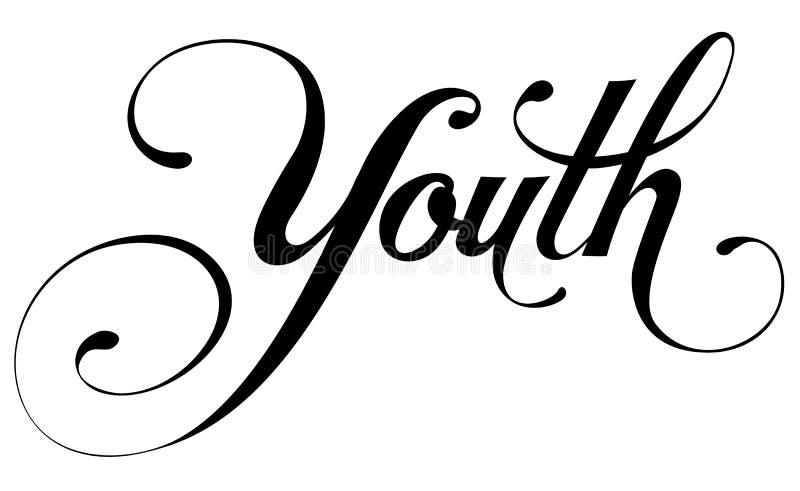 «młodości «kaligrafia royalty ilustracja