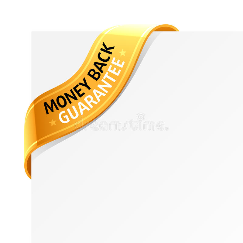 «Money back guarantee» sign royalty free illustration