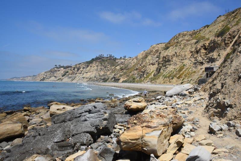 «Pieczarkowy dom na oceanie spokojnym w San Diego zdjęcia royalty free