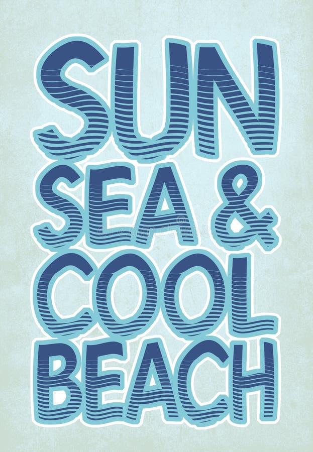 «słońca, dennych & chłodno plaż typografia, sportowe trójnik koszula grafika ilustracja wektor