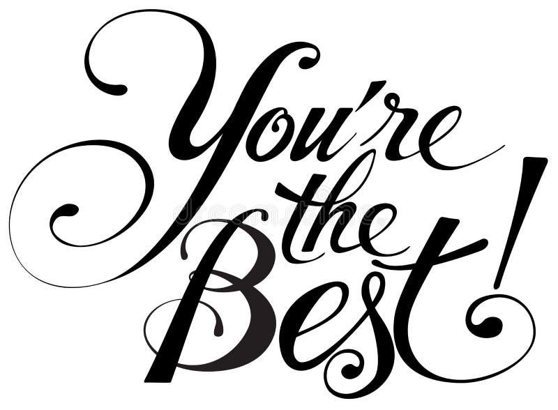«Ty jesteś najlepszy! «kaligrafia ilustracji