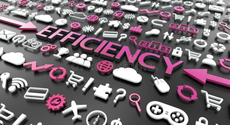 «wydajności «słowo z 3d ikonami royalty ilustracja