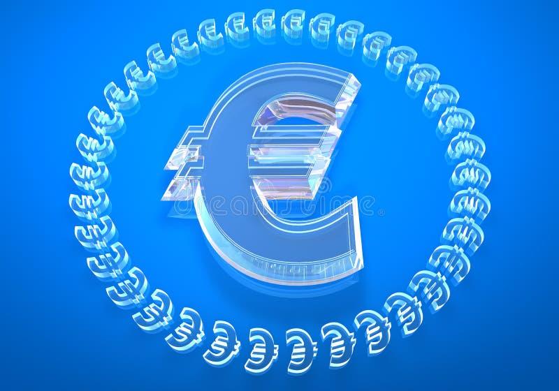 ¬ de vidro (euro-) ilustração do vetor
