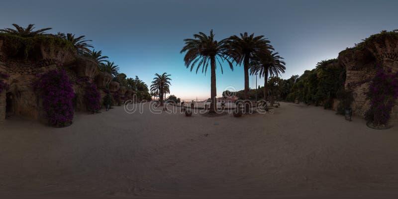 360°视角三维球面全景图像 虚拟现实的准备 全等矩形投影 库存照片