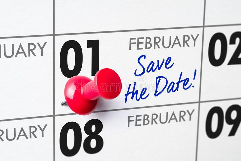 1° febbraio fotografia stock