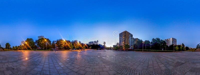 360° Panorama of Katowice estates stock photos