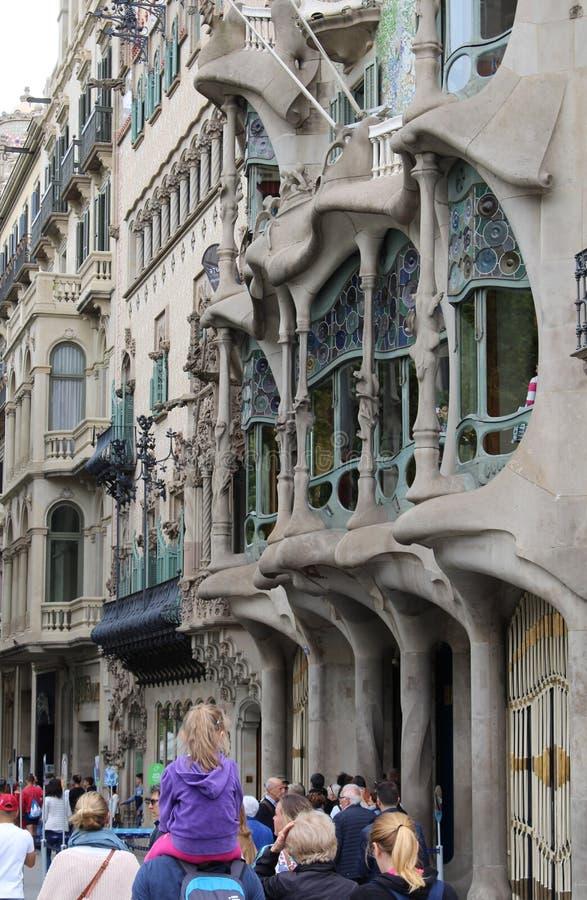 ³ de Batllà de maison à Barcelone, le travail de l'architecte Gaudi image stock
