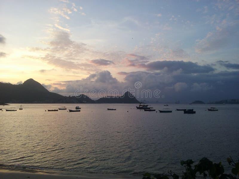 ³ i RJ di Praia de Charitas- Niterà fotografie stock