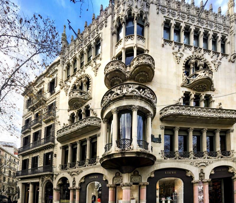 ³ Morera de Lleà da casa em Barcelona fotos de stock royalty free