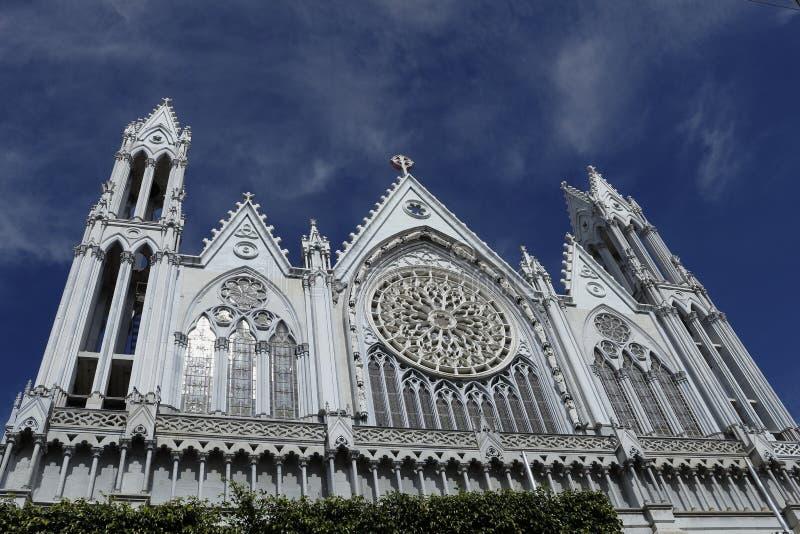 ³ superior frontal n Guanajuato do en Leà de la mitad del templo EL Expiatorio da vista imagens de stock royalty free