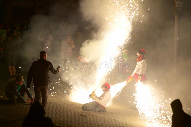 ³ traditionnel de Sant Pere de Torellà de célébrations image stock