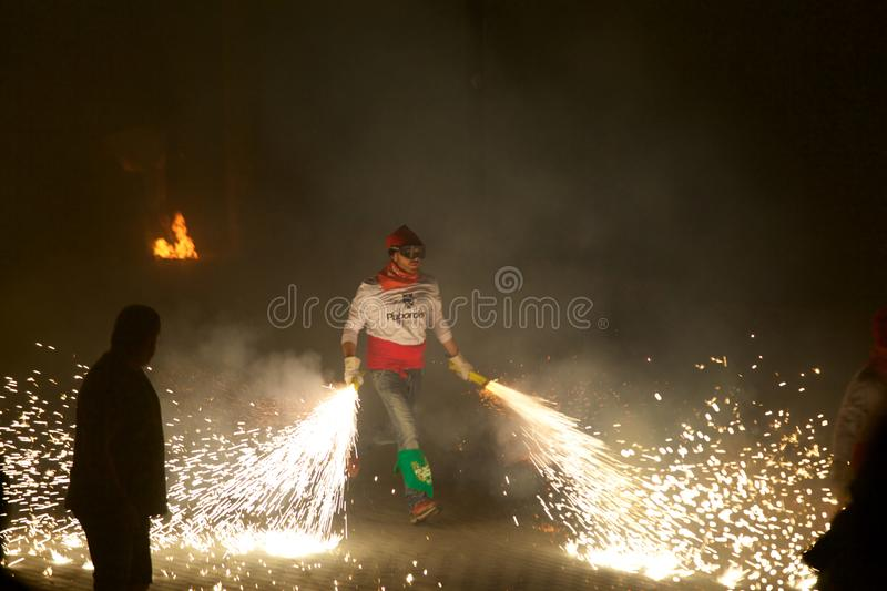 ³ traditionnel de Sant Pere de Torellà de célébrations photographie stock libre de droits