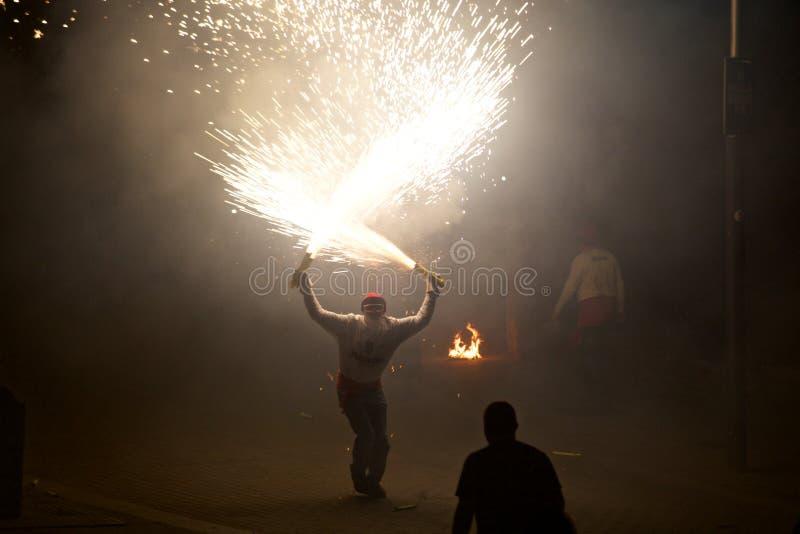 ³ traditionnel de Sant Pere de Torellà de célébrations photographie stock