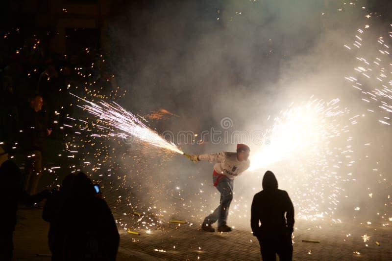 ³ traditionnel de Sant Pere de Torellà de célébrations photo stock