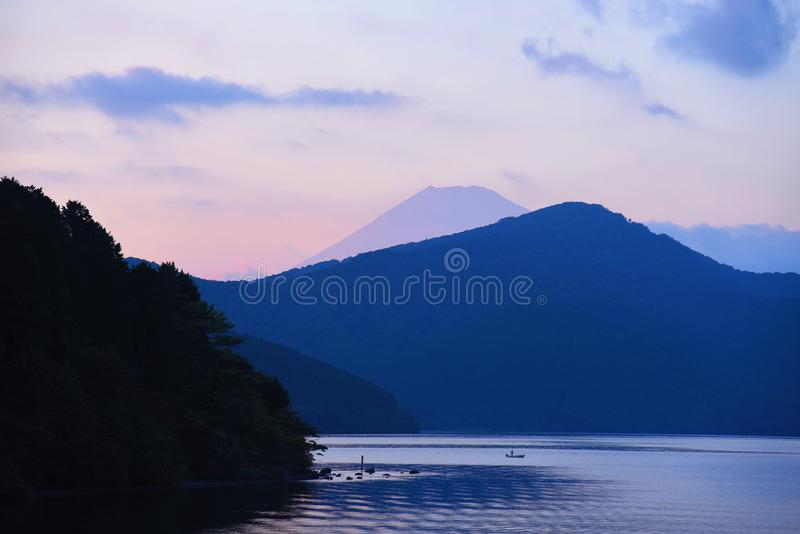 ·Jeziorny Ashi z Mt Fujiï ¼ ŒJapan fotografia royalty free
