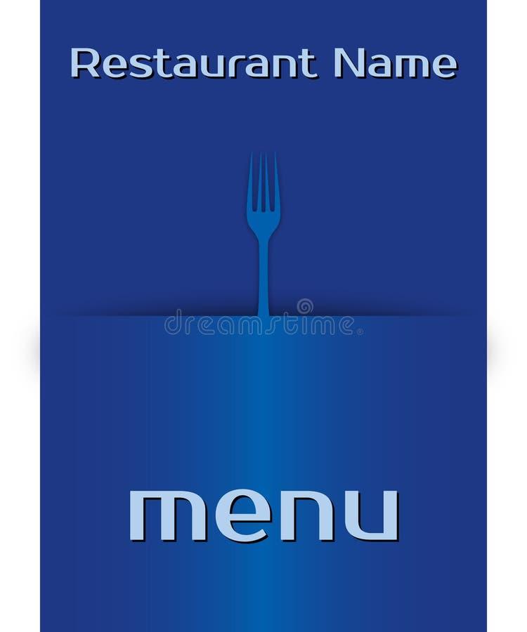 ¹ do menà do restaurante do vetor (02) ilustração royalty free