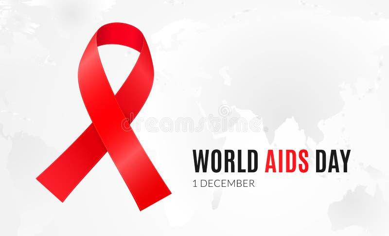 1º de dezembro - Dia Mundial do Sida e campanha de sensibilização nacional do VIH ilustração do vetor