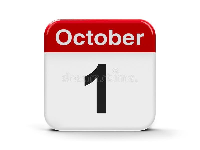 1º de outubro ilustração stock