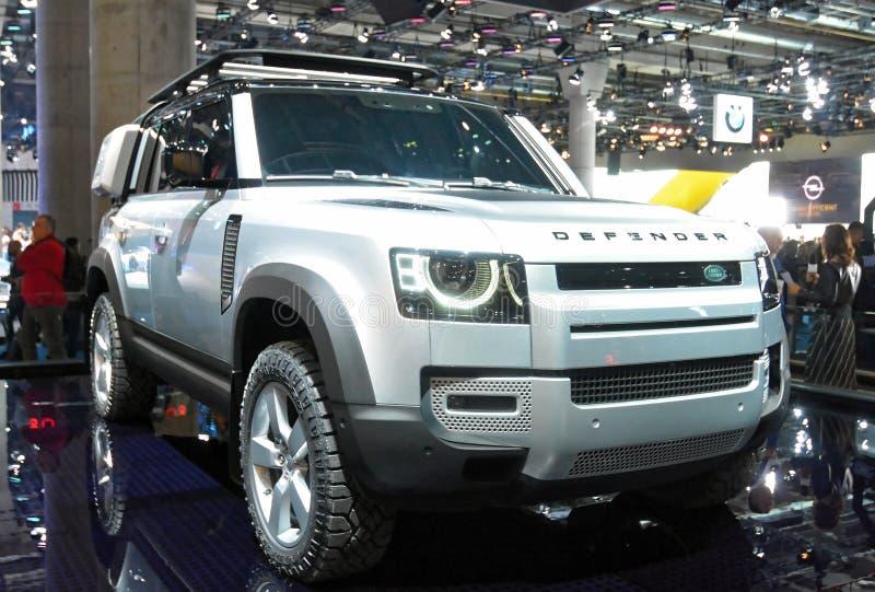 68º IAA Frankfurt 2019 - Land Rover Defender imagem de stock