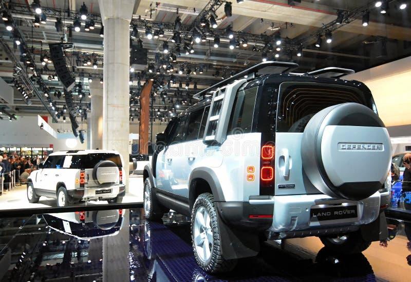 68º IAA Frankfurt 2019 - Land Rover Defender imagem de stock royalty free