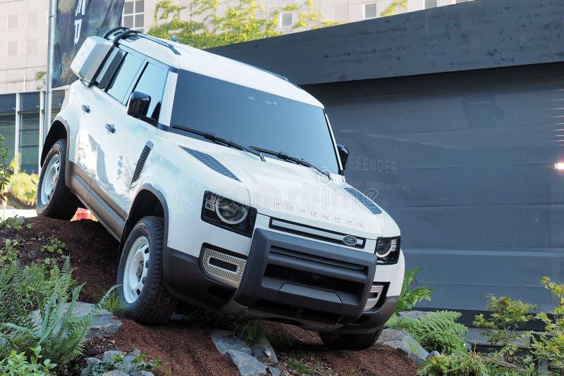 68º IAA Frankfurt 2019 - Land Rover Defender foto de stock