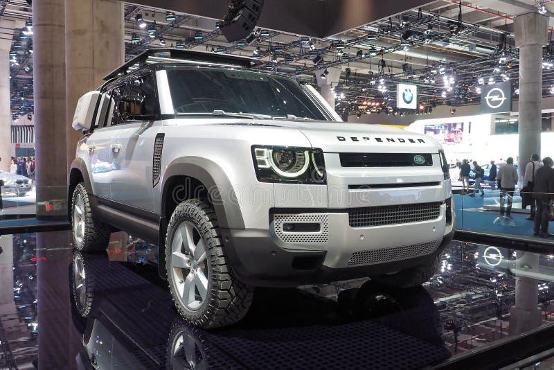 68º IAA Frankfurt 2019 - Land Rover Defender foto de stock royalty free