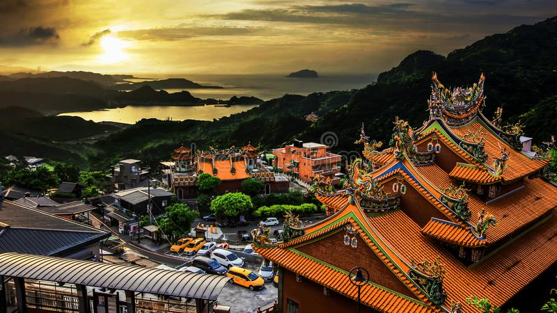 ¼ Œ Taiwan Jiu Fenï stockfotografie