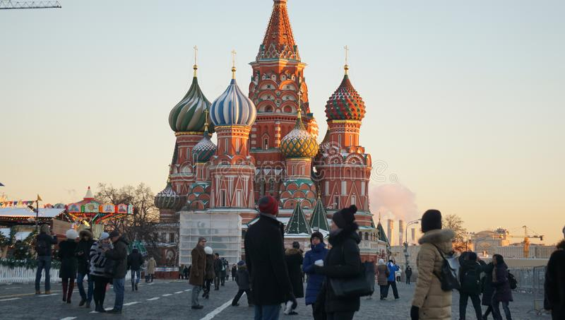 ¼ ŒChristian de Cathedralï de ŒSaint Basil russe de ¼ de churchï images libres de droits