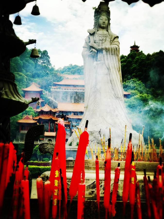 ¼ Œguangzhou, porcellana di Nansha Tin Hau Templeï fotografia stock