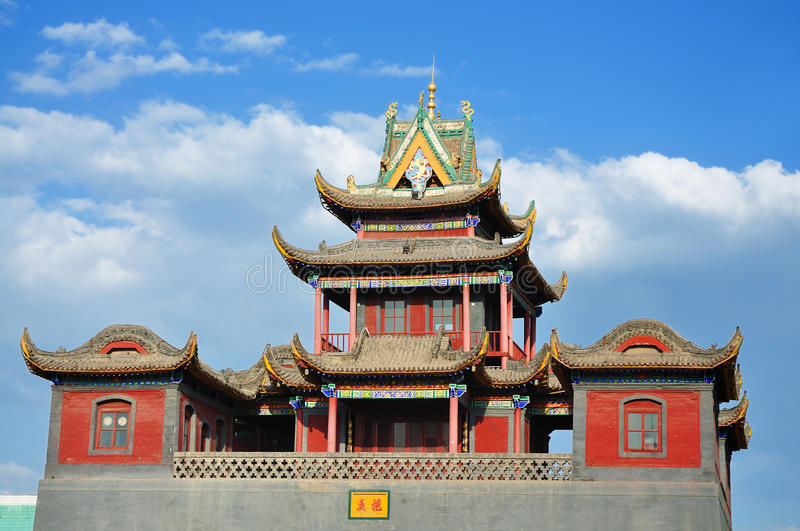 ¼ NingXia de Towerï do cilindro do ¼ de YinChuanï do ¼ de Chinaï imagem de stock