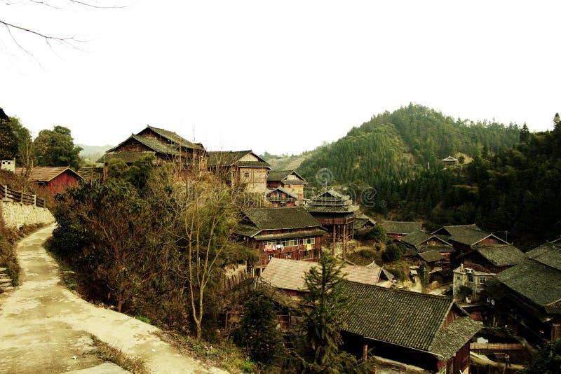 ¼ rural de madeira ŒPhotography do villageï de ŒChinese do ¼ do houseï fotografia de stock