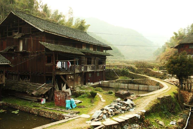 ¼ rural de madeira ŒPhotography do villageï de ŒChinese do ¼ do houseï fotos de stock royalty free
