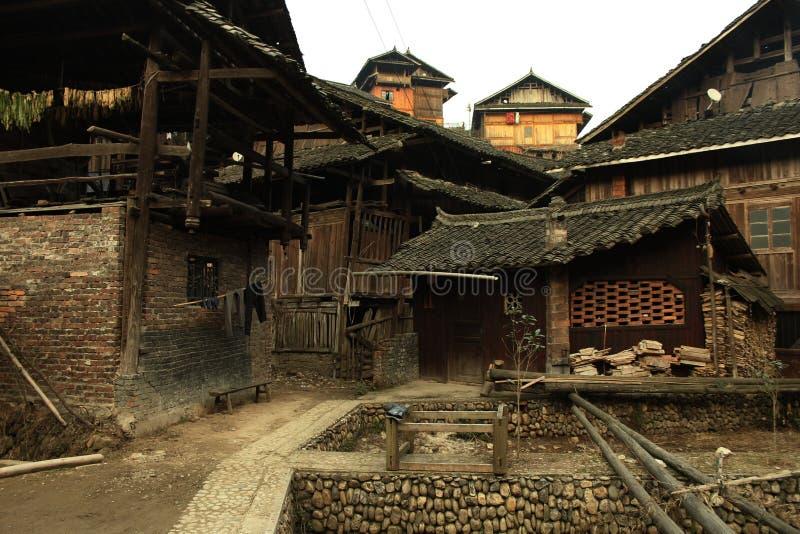 ¼ rural de madeira ŒPhotography do villageï de ŒChinese do ¼ do houseï imagem de stock royalty free