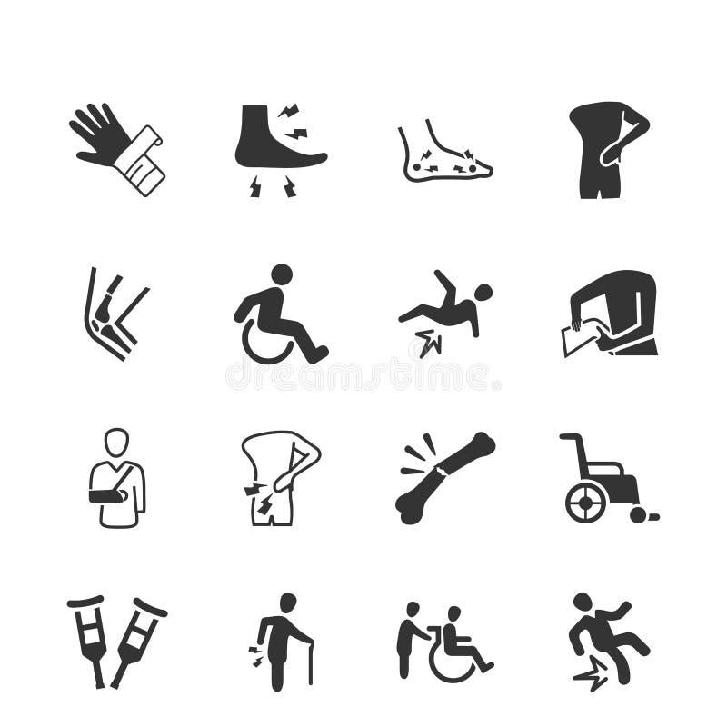 ½ Gray Version för ¿ för ï för symboler för benbrott royaltyfri illustrationer