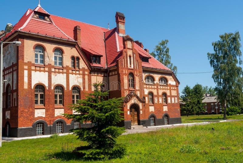 ¿? cuarteles de la infantería del ormer del campo militar Baltiysk foto de archivo libre de regalías
