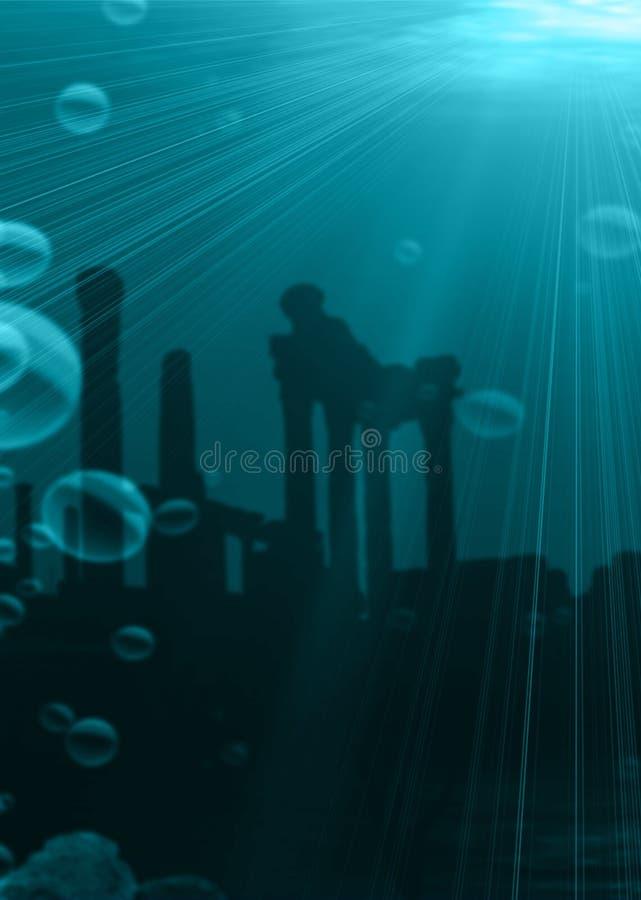 ¿Atlantis? fotografía de archivo libre de regalías