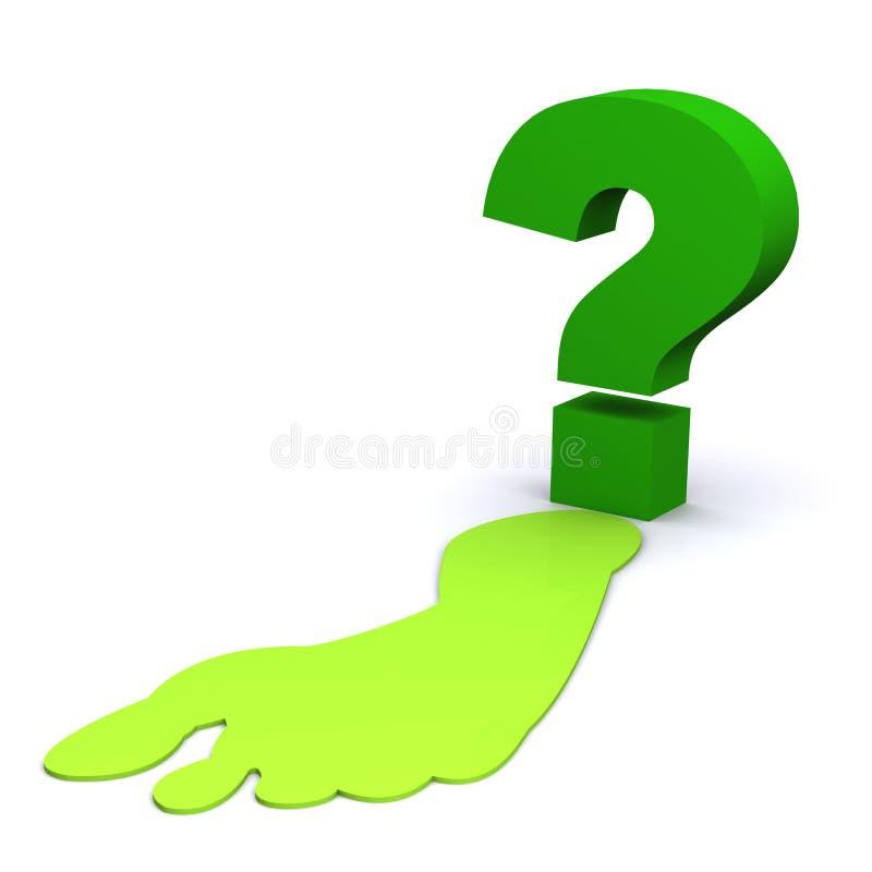 ¿Cómo el verde es su huella? stock de ilustración