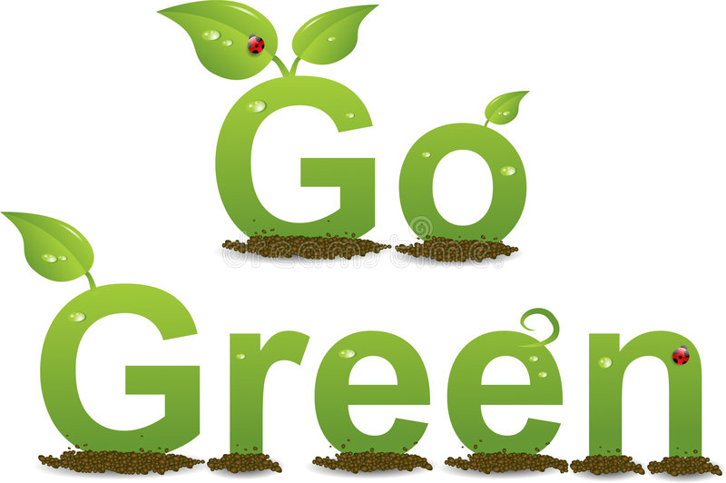 ¿Cómo el verde es su huella? ilustración del vector