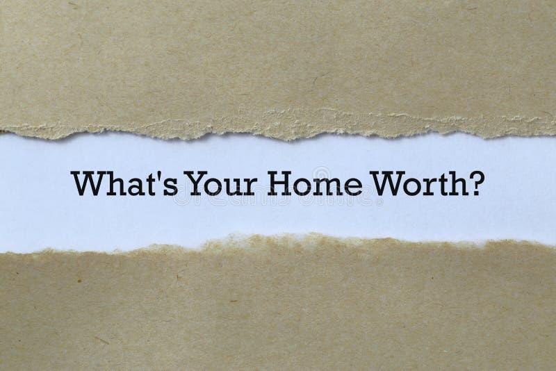 ¿Cuál es el valor de tu casa en papel? foto de archivo libre de regalías